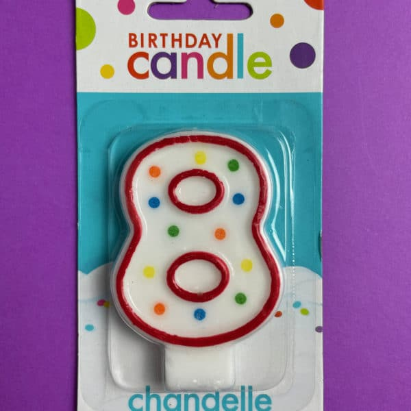 Birthday Candle Number 8